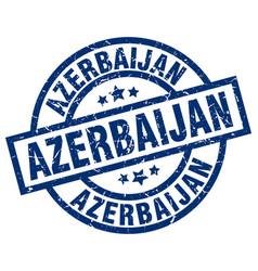 Azerbaijan blue round grunge stamp vector