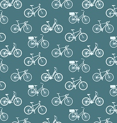 bicycles vintage pattern vector image
