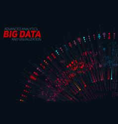 big data circular colorful vector image