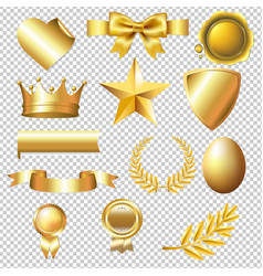 big golden collection vector image