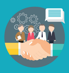 business handshake agreement partnership meeting vector image vector image