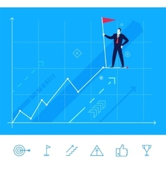 Businessman standing at the vector image