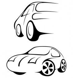 car line drawing vector image vector image