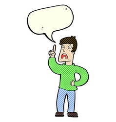 Cartoon man with complaint with speech bubble vector