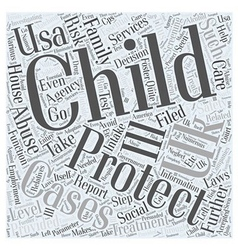 Child protection uk and usa word cloud concept vector