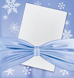 Christmas blank white paper vector image