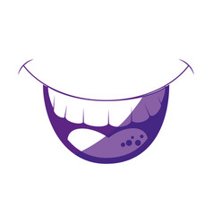 Comic mouth smiling vector