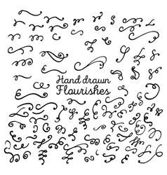 Hand drawn set of design elements vector image