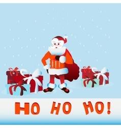 Ho Santa Claus vector image