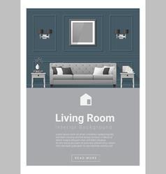 Interior design modern living room banner 5 vector