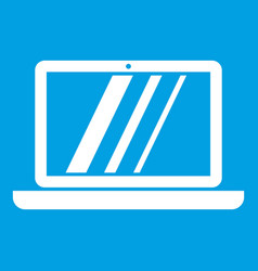 laptop icon white vector image vector image