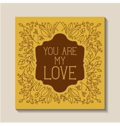 Love card vintage style frame vector
