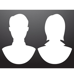 Man and women silhouettes vector image vector image
