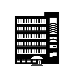 Multistory building icon simple style vector image