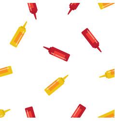 mustard and ketchup seamless pattern vector image