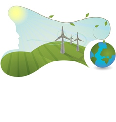 Nature is helping generate energy vector image vector image