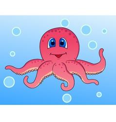 octopus cartoon vector image vector image