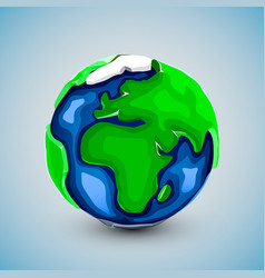realistic beautiful planet earth globe vector image vector image