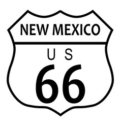 route 66 new mexico vector image vector image