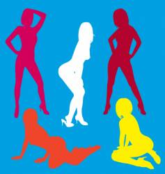 sexy silhouette collection vector image