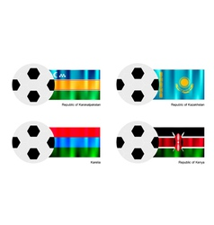 Soccer Ball of Karakalpakstan Kazakhstan Karel vector image