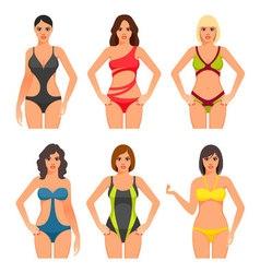 Women in swimsuit vector image