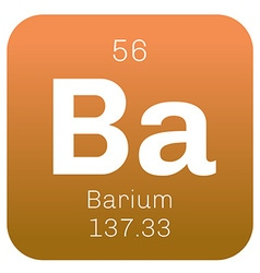 Barium chemical element vector
