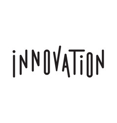Typography of the word innovation vector
