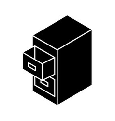 Document filing cabinet isometric vector