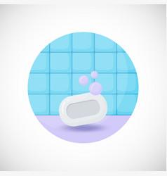 soap bar flat icon vector image