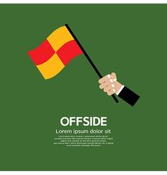 Offside football vector