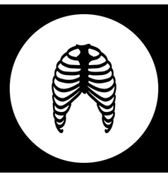 Human ribs bones black simple icon eps10 vector