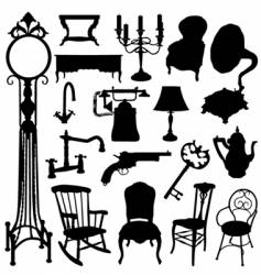 antique objects vector image