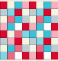 Fashion pattern with squares vector
