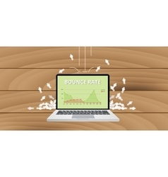 Bounce rate from website traffic vector