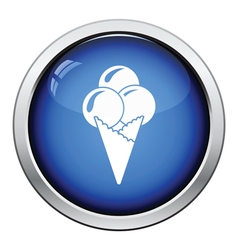 Ice-cream cone icon vector