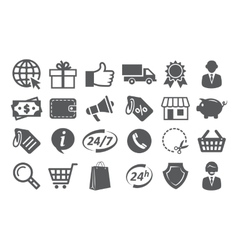 E-commerce and shopping icons vector