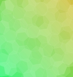 Abstract green yellow background with hexagons vector image