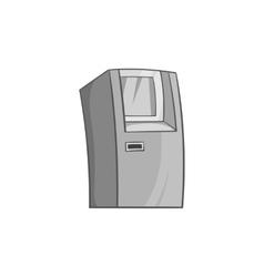 Atm icon black monochrome style vector image