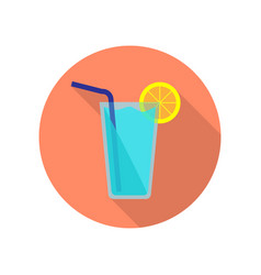 blue cocktail icon vector image vector image