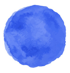 Blue isolated watercolor paint circle vector
