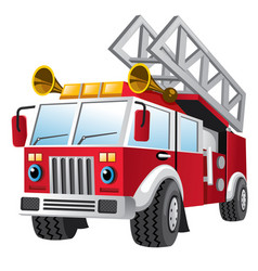 Cartoon of fire department truck vector