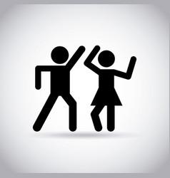 Couple dancing design vector