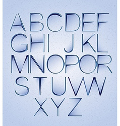 Cutted paper alphabet vector image vector image