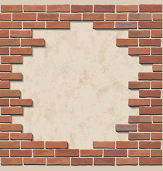 Damaged brick wall vector