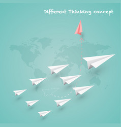 difference thinking is make more experience and vector image