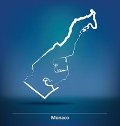 Doodle map of monaco vector