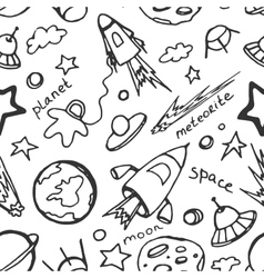 Doodle pattern cosmos vector image
