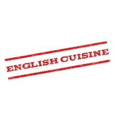 English cuisine watermark stamp vector