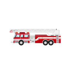 Fire truck isolated vector